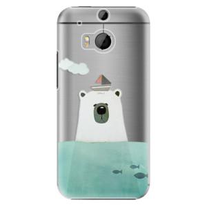 Plastové pouzdro iSaprio Bear With Boat na mobil HTC One M8
