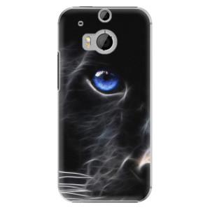 Plastové pouzdro iSaprio Black Puma na mobil HTC One M8