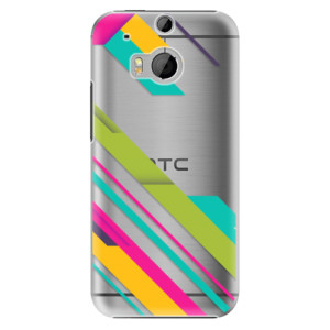 Plastové pouzdro iSaprio Color Stripes 03 na mobil HTC One M8