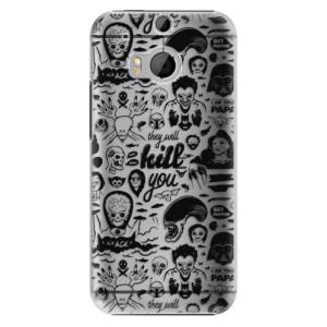 Plastové pouzdro iSaprio Comics 01 black na mobil HTC One M8