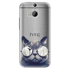 Plastové pouzdro iSaprio Crazy Cat 01 na mobil HTC One M8