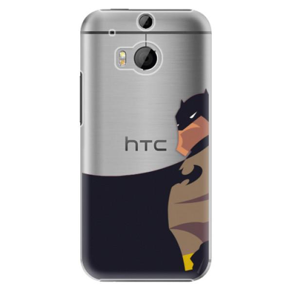 Plastové pouzdro iSaprio BaT Comics na mobil HTC One M8 (Plastový obal, kryt, pouzdro iSaprio BaT Comics na mobilní telefon HTC One M8)