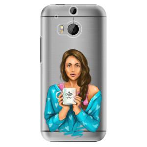 Plastové pouzdro iSaprio Coffe Now Brunette na mobil HTC One M8