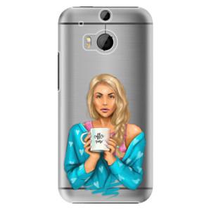 Plastové pouzdro iSaprio Coffe Now Blond na mobil HTC One M8