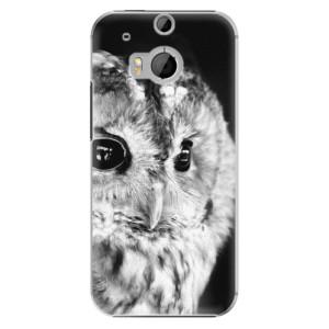Plastové pouzdro iSaprio BW Owl na mobil HTC One M8
