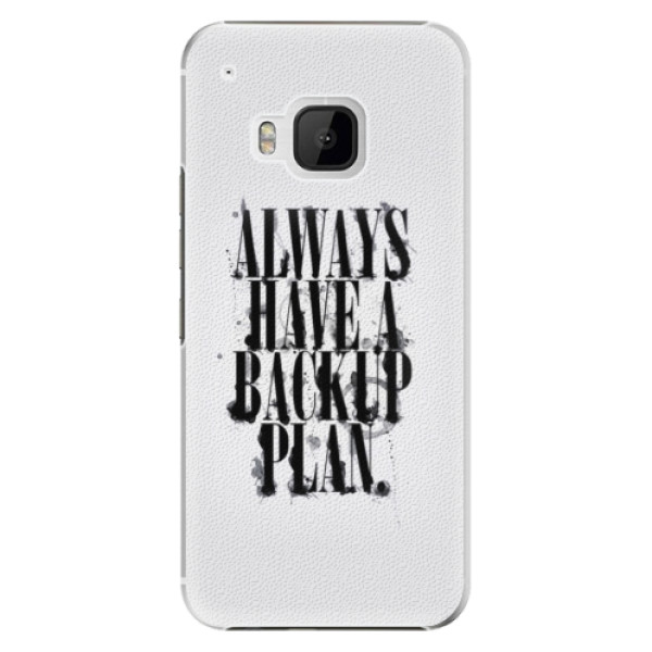 Plastové pouzdro iSaprio Backup Plan na mobil HTC One M9 (Plastový obal, kryt, pouzdro iSaprio Backup Plan na mobilní telefon HTC One M9)