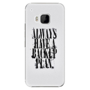 Plastové pouzdro iSaprio Backup Plan na mobil HTC One M9