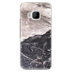 Plastové pouzdro iSaprio BW Marble na mobil HTC One M9
