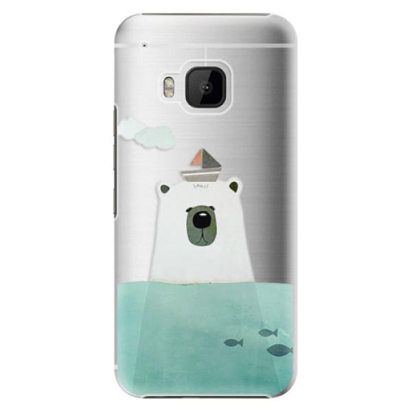 Plastové pouzdro iSaprio Bear With Boat na mobil HTC One M9 (Plastový obal, kryt, pouzdro iSaprio Bear With Boat na mobilní telefon HTC One M9)