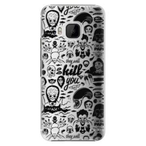 Plastové pouzdro iSaprio Comics 01 black na mobil HTC One M9