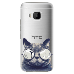 Plastové pouzdro iSaprio Crazy Cat 01 na mobil HTC One M9
