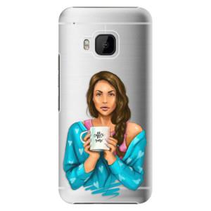 Plastové pouzdro iSaprio Coffe Now Brunette na mobil HTC One M9