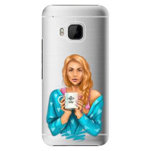 Plastové pouzdro iSaprio Coffe Now Redhead na mobil HTC One M9