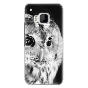 Plastové pouzdro iSaprio BW Owl na mobil HTC One M9