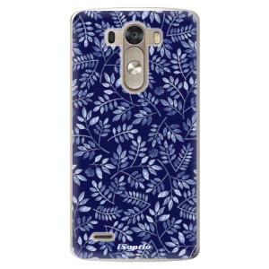 Plastové pouzdro iSaprio Blue Leaves 05 na mobil LG G3 (D855)