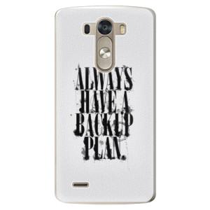 Plastové pouzdro iSaprio Backup Plan na mobil LG G3 (D855)