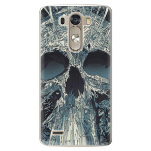 Plastové pouzdro iSaprio Abstract Skull na mobil LG G3 (D855)