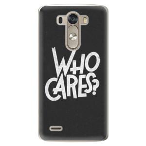 Plastové pouzdro iSaprio Who Cares na mobil LG G3 (D855)