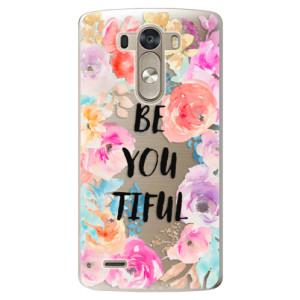 Plastové pouzdro iSaprio BeYouTiful na mobil LG G3 (D855)