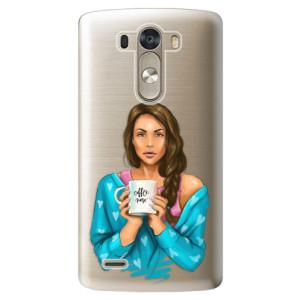 Plastové pouzdro iSaprio Coffe Now Brunette na mobil LG G3 (D855)