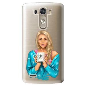 Plastové pouzdro iSaprio Coffe Now Blond na mobil LG G3 (D855)