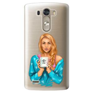 Plastové pouzdro iSaprio Coffe Now Redhead na mobil LG G3 (D855)