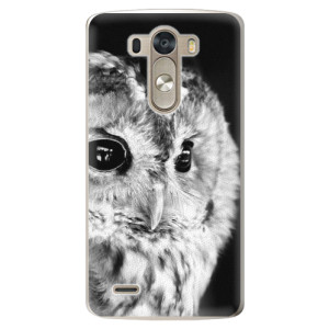 Plastové pouzdro iSaprio BW Owl na mobil LG G3 (D855)