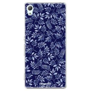 Plastové pouzdro iSaprio Blue Leaves 05 na mobil Sony Xperia Z3+ / Z4