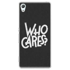 Plastové pouzdro iSaprio Who Cares na mobil Sony Xperia Z3+ / Z4