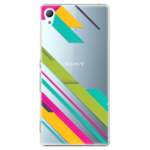 Plastové pouzdro iSaprio Barevné Pruhy 03 na mobil Sony Xperia Z3+ / Z4