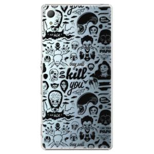 Plastové pouzdro iSaprio Komiks 01 black na mobil Sony Xperia Z3+ / Z4