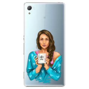 Plastové pouzdro iSaprio Coffee Now Brunetka na mobil Sony Xperia Z3+ / Z4