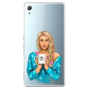Plastové pouzdro iSaprio Coffee Now Blondýna na mobil Sony Xperia Z3+ / Z4