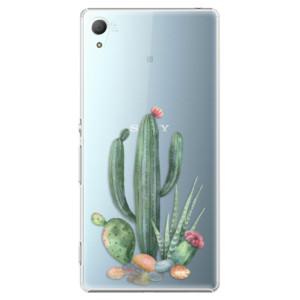 Plastové pouzdro iSaprio Kaktusy 02 na mobil Sony Xperia Z3+ / Z4