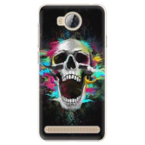 Plastové pouzdro iSaprio Barevná Lebka na mobil Huawei Y3 II