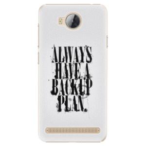 Plastové pouzdro iSaprio Backup Plan na mobil Huawei Y3 II