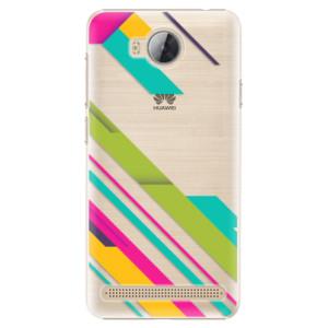Plastové pouzdro iSaprio Barevné Pruhy 03 na mobil Huawei Y3 II