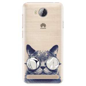 Plastové pouzdro iSaprio Šílená Číča 01 na mobil Huawei Y3 II