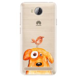 Plastové pouzdro iSaprio Pejsek a Ptáček na mobil Huawei Y3 II