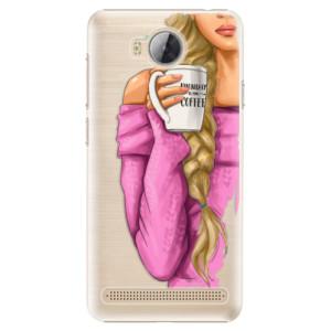 Plastové pouzdro iSaprio Blondýnka s kafčem na mobil Huawei Y3 II