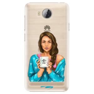 Plastové pouzdro iSaprio Coffee Now Brunetka na mobil Huawei Y3 II