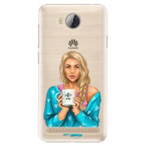 Plastové pouzdro iSaprio Coffee Now Blondýna na mobil Huawei Y3 II