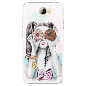Plastové pouzdro iSaprio Donutky Očiska 10 na mobil Huawei Y5 II / Y6 II Compact