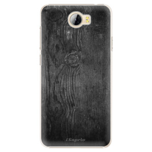 Plastové pouzdro iSaprio black Wood 13 na mobil Huawei Y5 II / Y6 II Compact