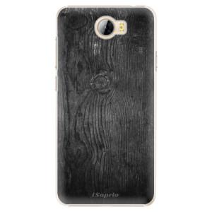 Plastové pouzdro iSaprio black Wood 13 na mobil Huawei Y5 II / Y6 II Compact
