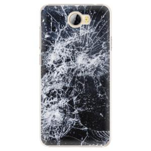Plastové pouzdro iSaprio Praskliny na mobil Huawei Y5 II / Y6 II Compact