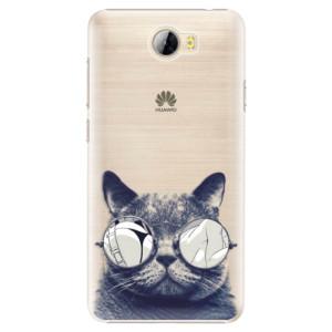 Plastové pouzdro iSaprio Šílená Číča 01 na mobil Huawei Y5 II / Y6 II Compact
