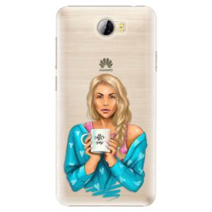 Plastové pouzdro iSaprio Coffee Now Blondýna na mobil Huawei Y5 II / Y6 II Compact