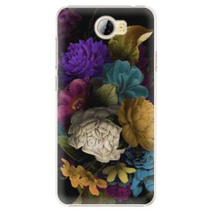 Plastové pouzdro iSaprio Temné Květy na mobil Huawei Y5 II / Y6 II Compact