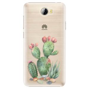 Plastové pouzdro iSaprio Kaktusy 01 na mobil Huawei Y5 II / Y6 II Compact